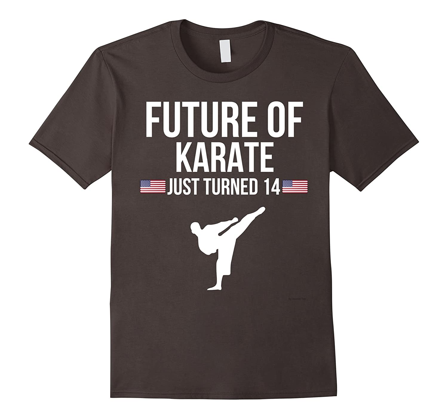 14th Birthday Karate T Shirt Gift For 14 Year Olds