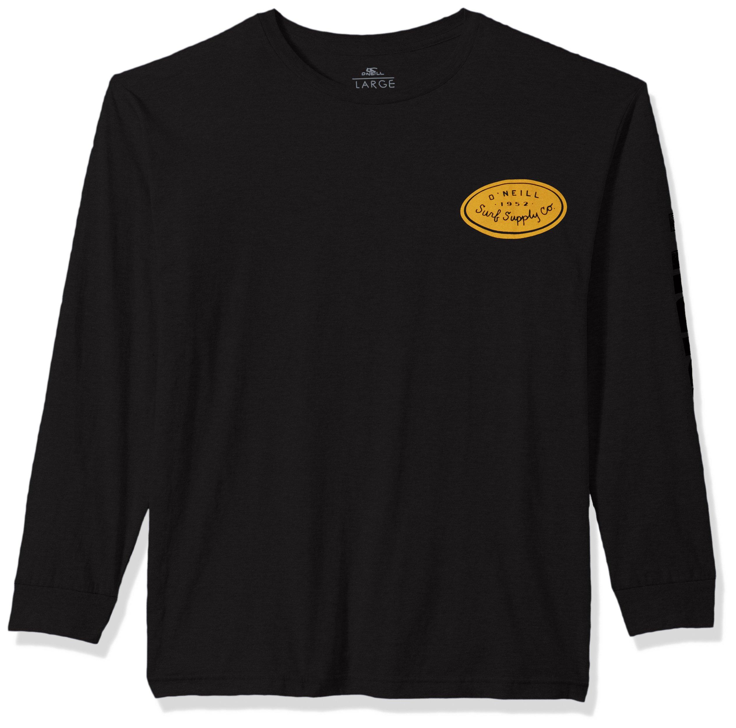 O'Neill Men's Long Sleeve T-Shirt, Saved Black, XXL