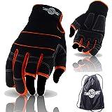 ToolFreak Work & Safety Gloves with Bag (Size Medium - 3 Finger Gloves + Bag)