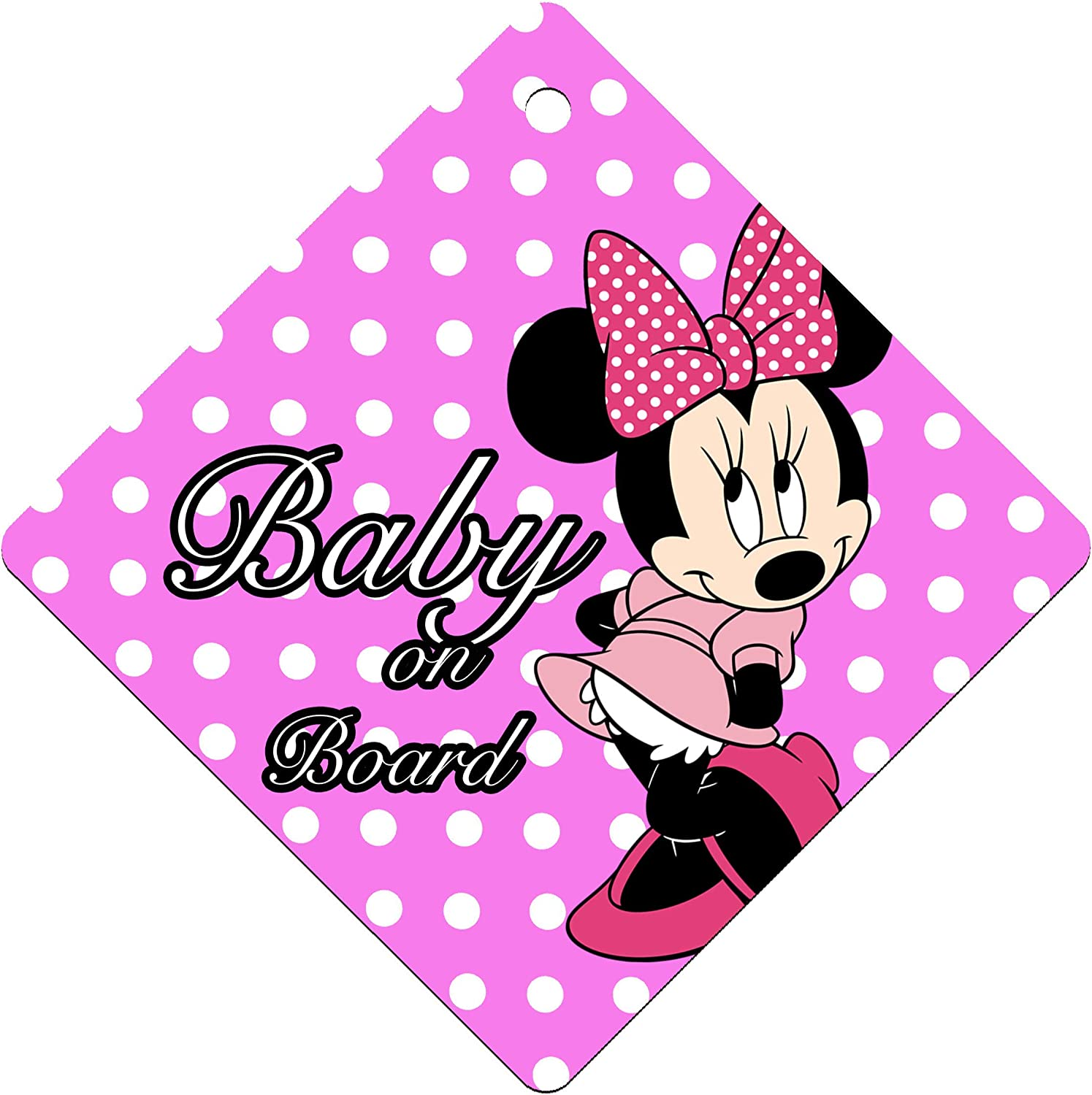 Baby on Board Kids Sign for Boys and Girls I-CHOOSE LIMITED Baby Car Windows Sign Sticker Single Sided with Suction Cup