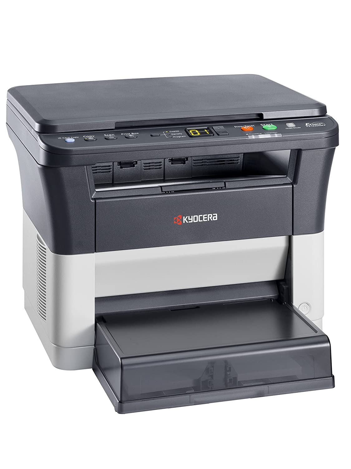 Kyocera Ecosys FS-1220MFP 3-in-1 Multifunction Laser Printer, B/W Print,  Copy & Scanner  Up to 20 Pages per Minute
