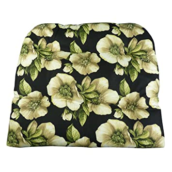 Patio Chair Cushion   Magnolia Floral Black Patio Chair Seat Pad   Wicker  Chair, Adirondack