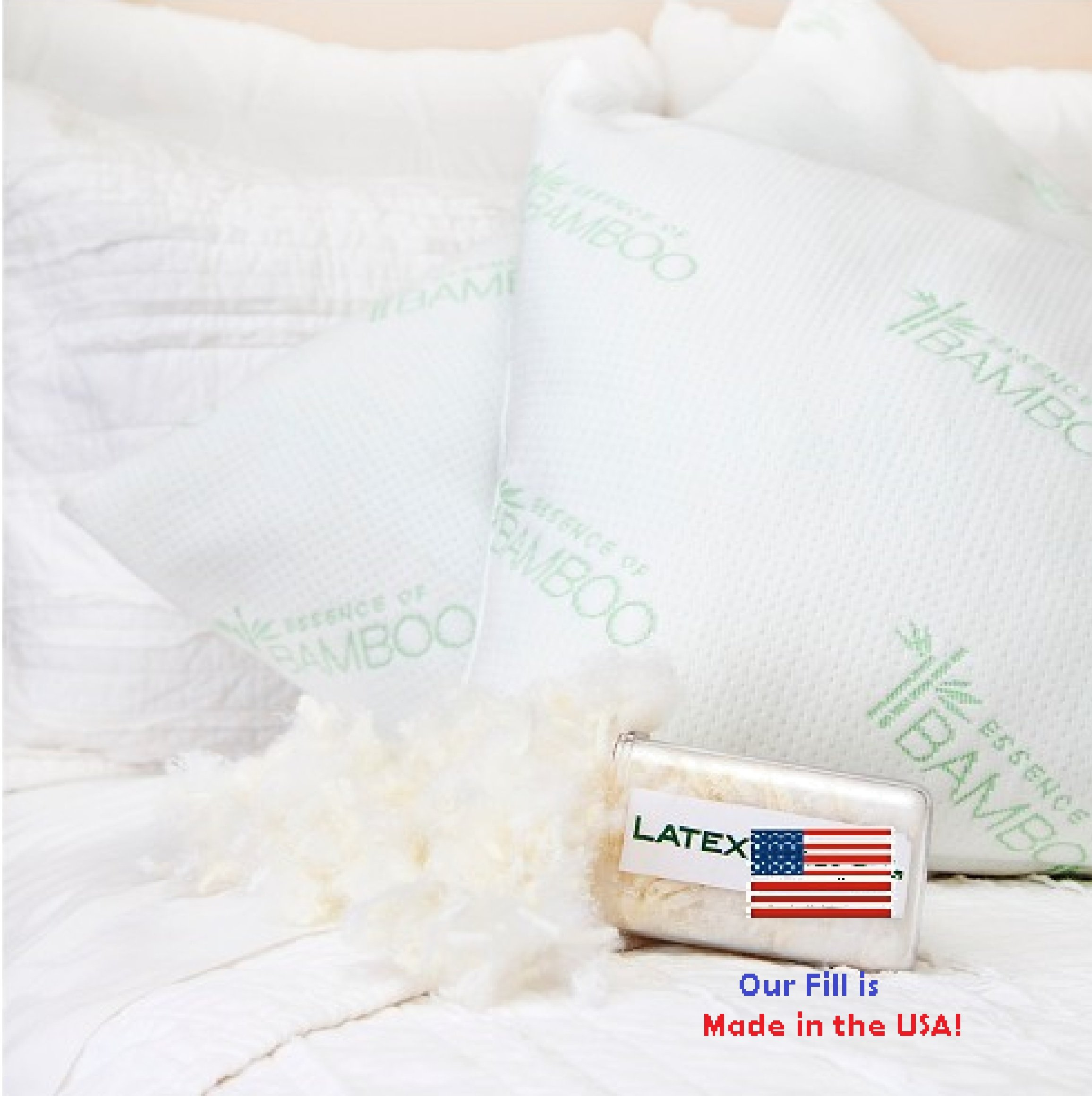 from pillow memory reviews ip shredded bamboo with viscose rayon walmart foam com cover derived