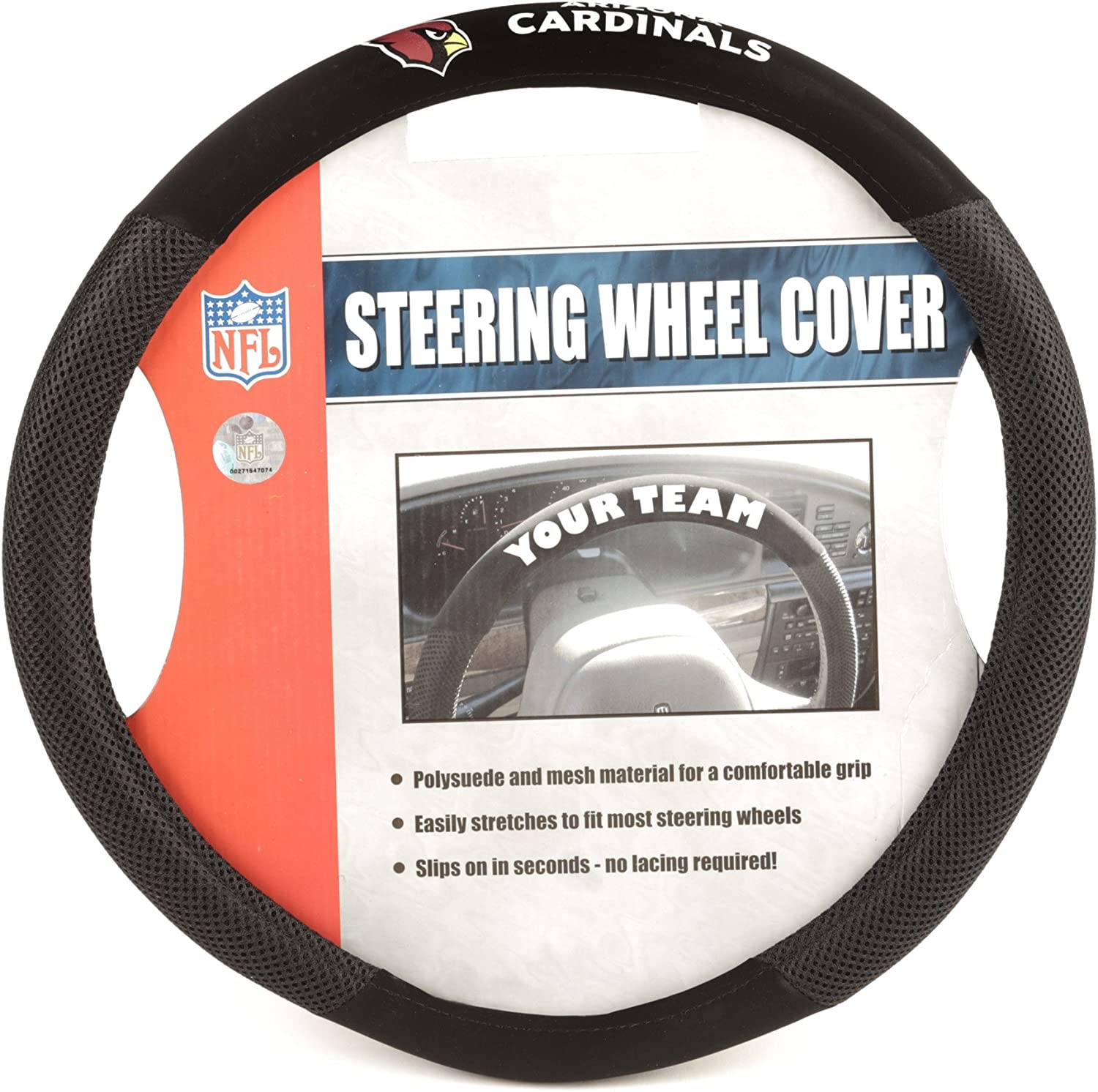 Stockdale Steering Wheel Cover,American Football Design Anti Slip Car Wheel Covers Protector,Warm in Winter and Cool in Summer,Odorless
