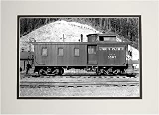 product image for Washington - Union Pacific Caboose - OWR&N Railroad (11x14 Double-Matted Art Print, Wall Decor Ready to Frame)