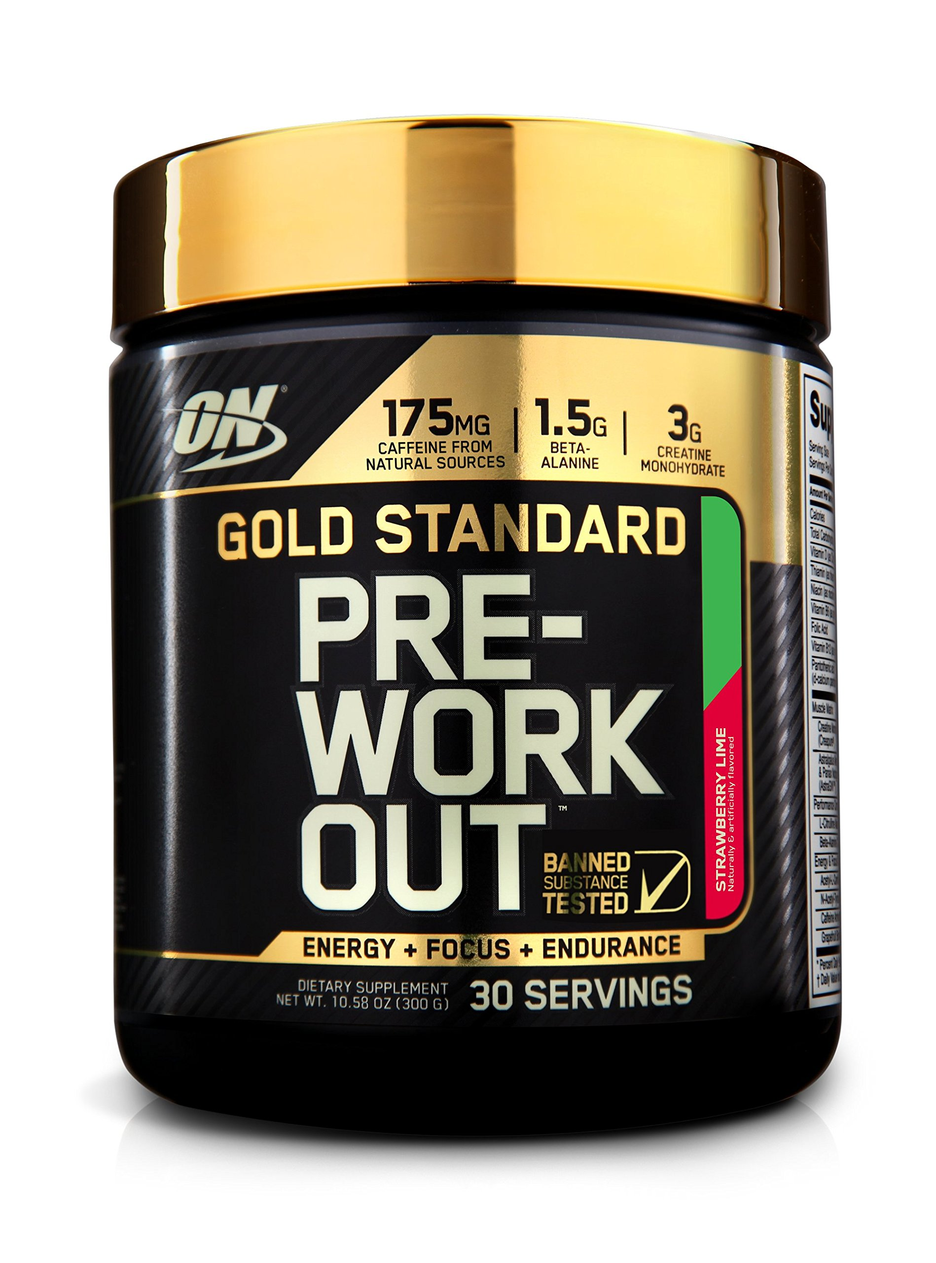OPTIMUM NUTRITION Gold Standard Pre-Workout with Creatine, Beta-Alanine, and Caffeine for Energy, Keto Friendly, Strawberry Lime, 30 Servings by Optimum Nutrition