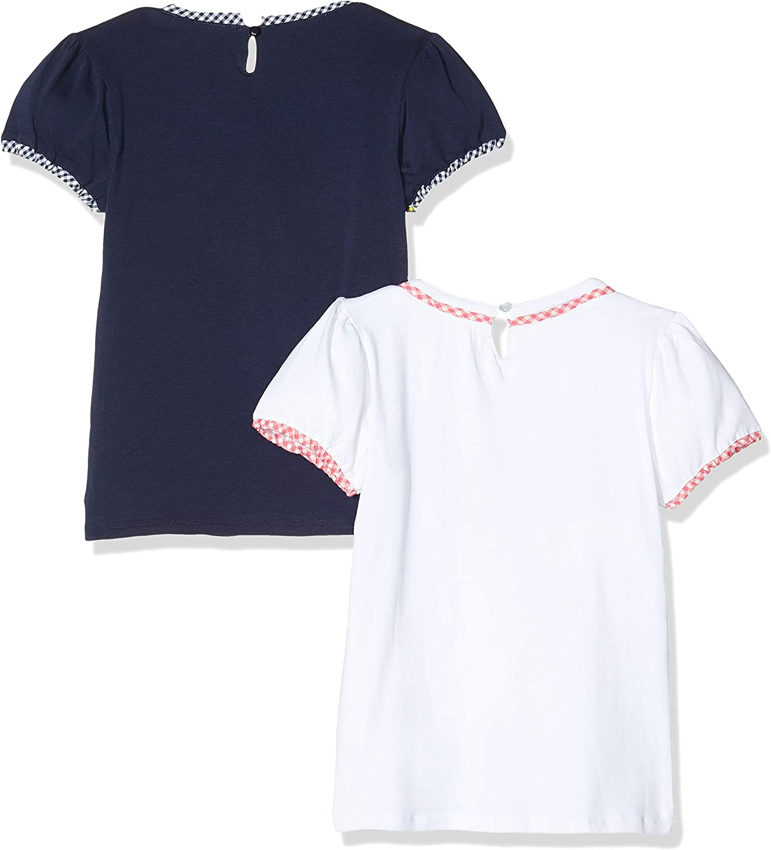 2er-Pack Happy Girls M/ädchen T-Shirt mit rundem Ausschnitt