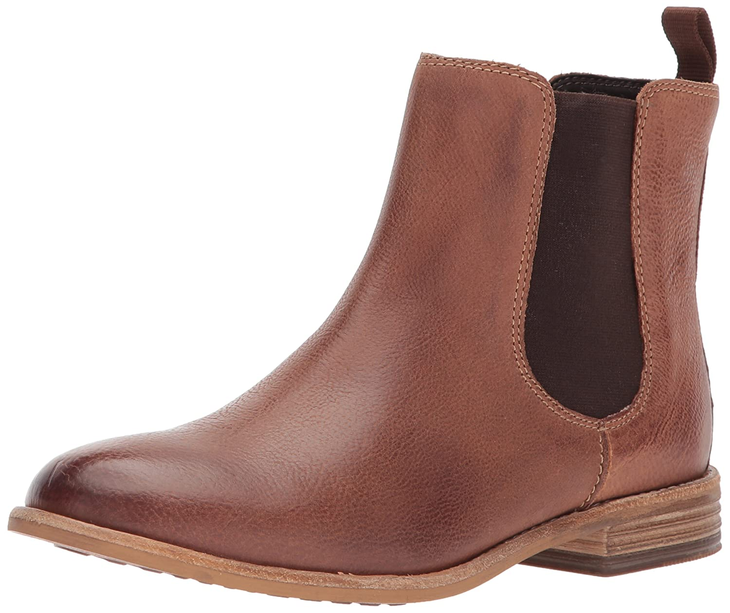 CLARKS Women's Maypearl Nala Ankle Bootie B01N1UNTH7 5 B(M) US|Dark Tan Leather