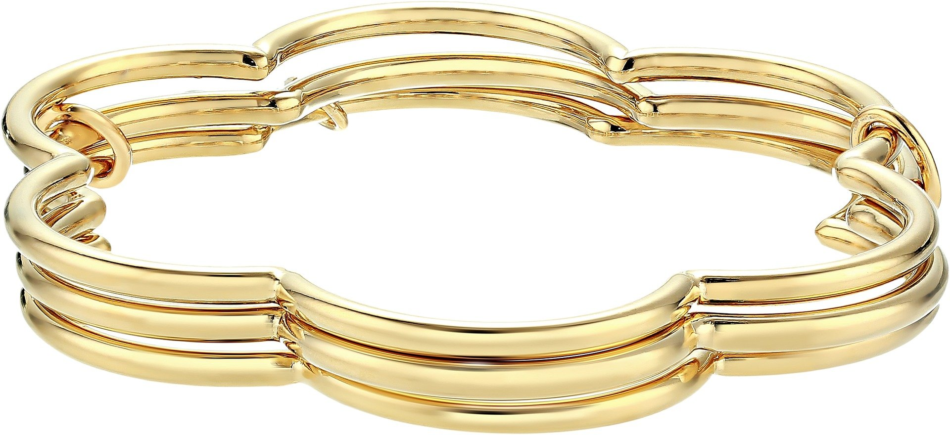 Kate Spade New York Women's Scrunched Scallops Stackable Bangle Set Gold One Size