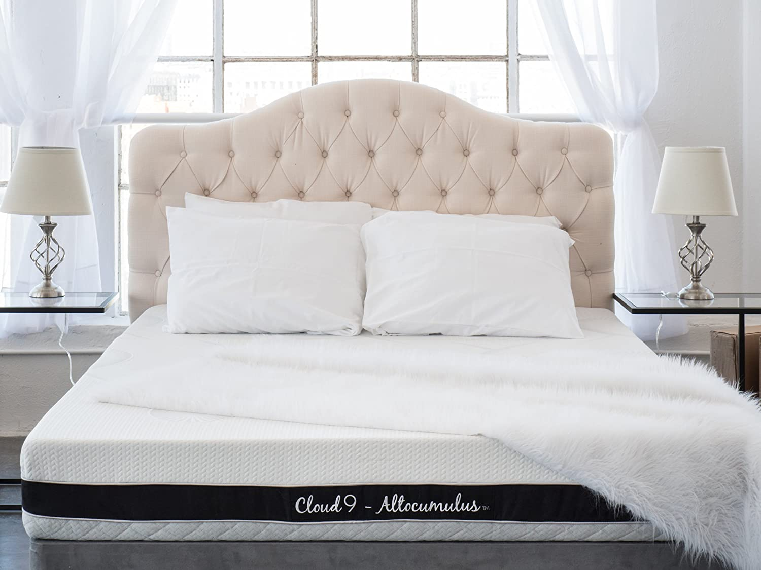 Cloud 9 Closed Cell Foam Mattress Plush Queen 11in, True Adaptive Support, Zero Pressure Points, Sleeps Cool, Tencel Fabric, USA Made, Certi-PUR Oeko-Tex 100 Certified, 10-Yr Wty, 100 day trial