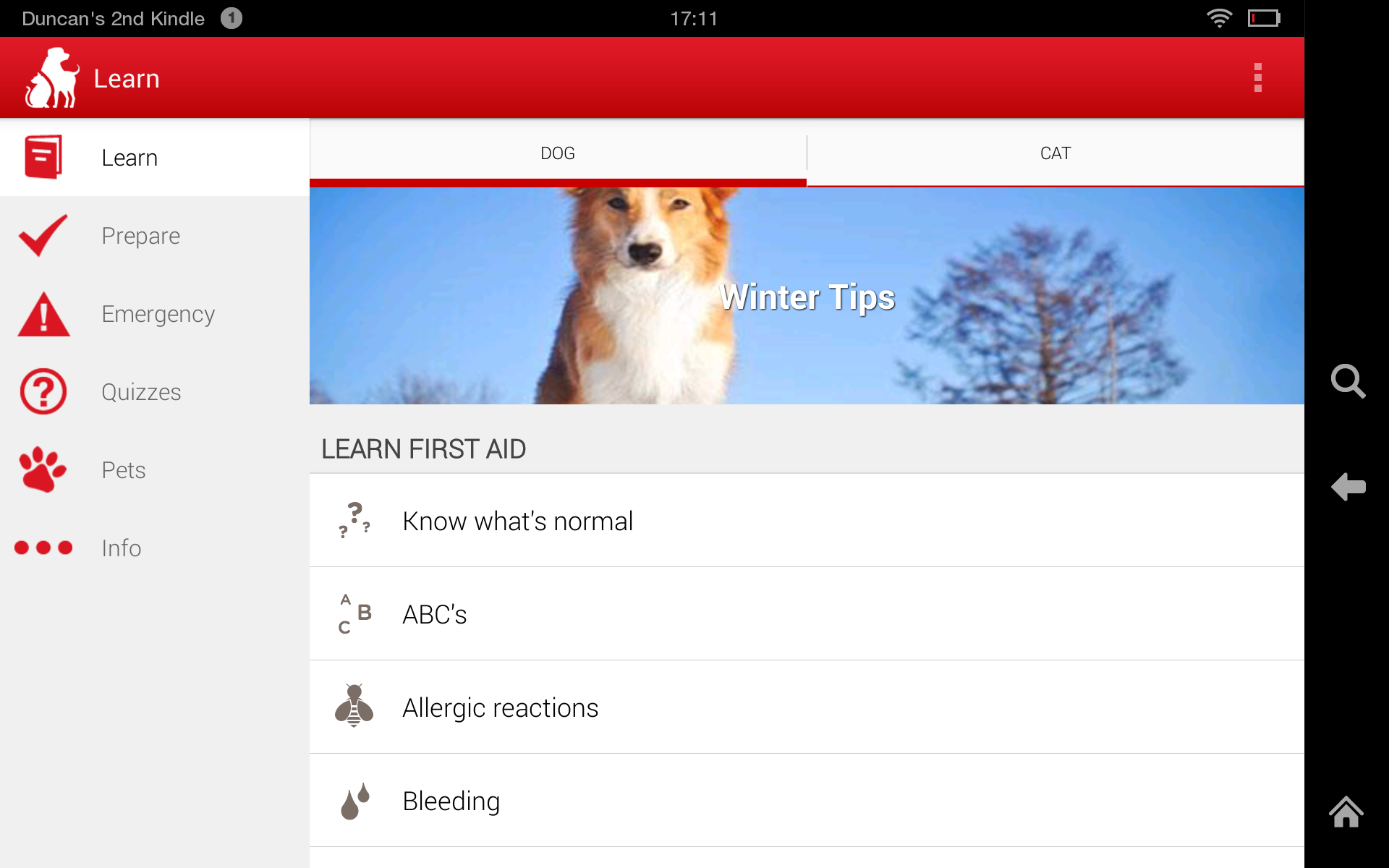Amazon pet first aid by american red cross appstore for android 000 xflitez Choice Image