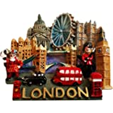 Londres Souvenir grand frigo polyrésine Magnet-Londres Tout