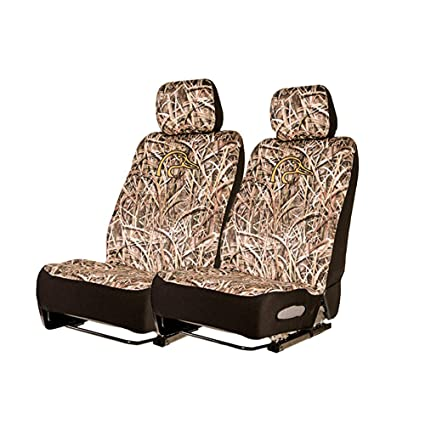 Ducks Unlimited Seat Covers >> Ducks Unlimited Camo Seat Covers Low Back Neoprene Shadow Grass Blades 2 Pack