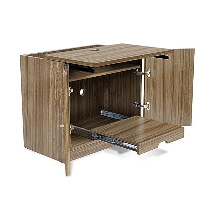 Jesper Office Unique Furniture 132203 WAL CPU Printer Cabinet, Walnut