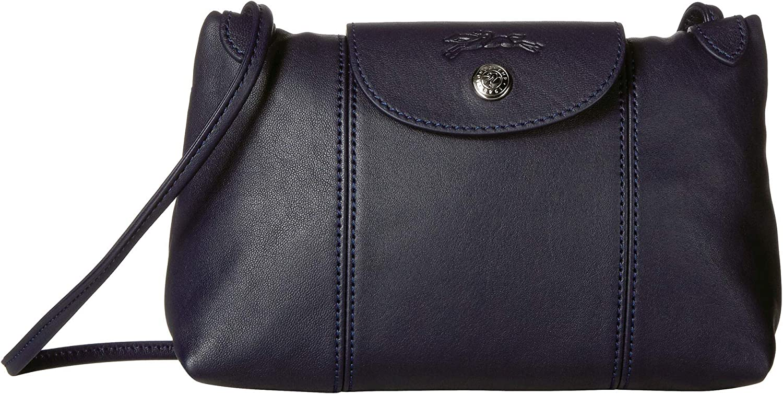 Longchamp Le Pliage Cuir Crossbody Bag Navy One Size: Handbags ...