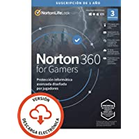 Norton 360 for Gamers 2021 | Antivirus software para 3 Dispositivos | 1 año, PC/Mac/tablet/smartphone | Código de…