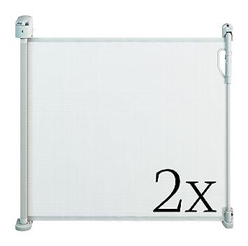 Perfect Gaterol Active Pro Weiß Doppelpack U2013 Zwei Schicke Ausziehbare  Treppenschutzgitter Und Türschutzgitter Rollo Mit Quick Pass Nice Ideas