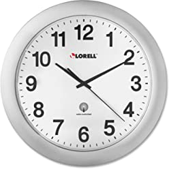 Lorell LLR60996 Radio Controlled Arabic Numeral Analog Wall Clock, Daylight Saving Radio-controlled,