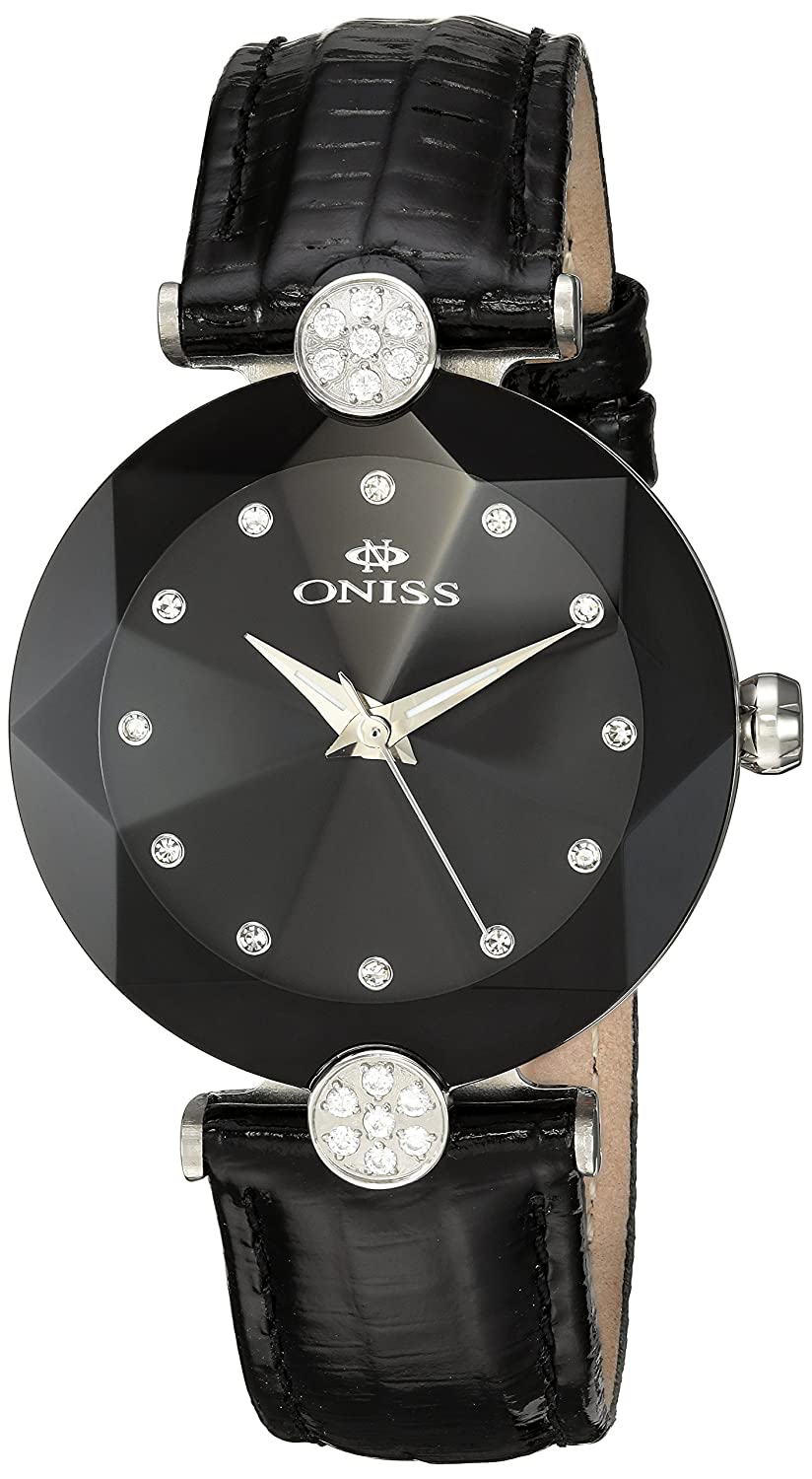 ONISS FACET DAMEN-ARMBANDUHR 35.03MM ARMBAND LEDER SCHWEIZER QUARZ ON8776-LBK
