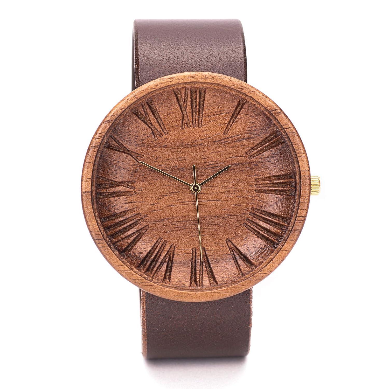 Reloj De Madera Hombre, Reloj Hombre Elegante, Regalos Para Hombres, Sostenible, 42mm Wood Watch, Ovi Watch