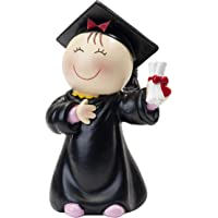 Mopec Figura Pastel Pita Graduación, Resina, Negro, 6x8x14