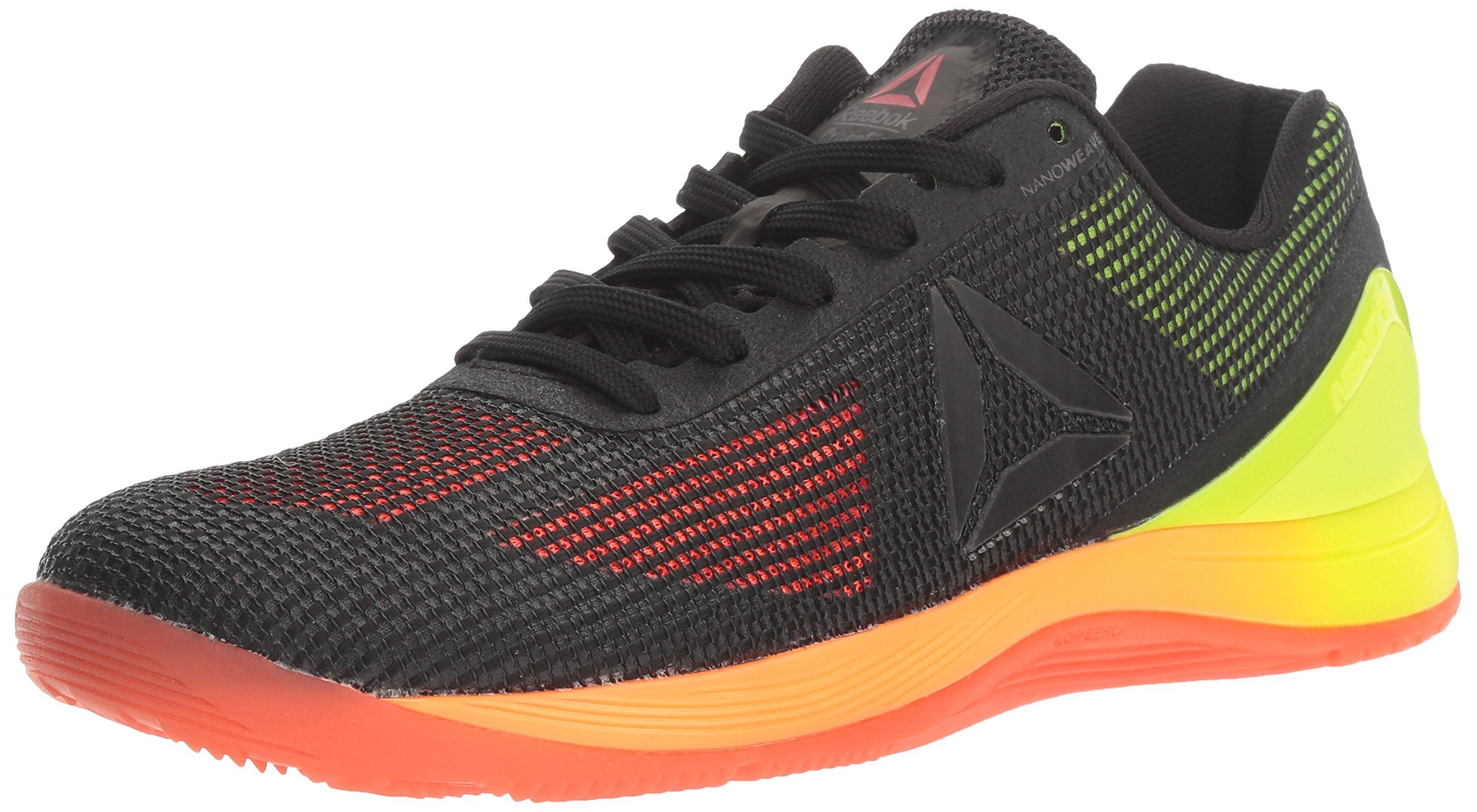 Reebok Women's CROSSFIT Nano 7.0 Cross-Trainer Shoe, Vitamin C/Solar Yellow/Black/Lead, 8 M US