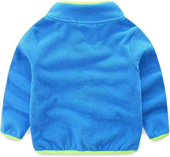 ZL4CH Little Boys Lightweight Full-Zip Fleece Jacket 2-8 Yrs