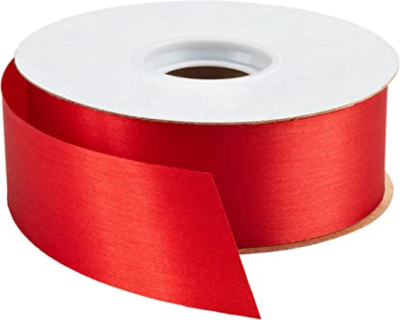 Gcs London Ribbon 38mm Wide Satin Red 5 Meters Double Sided Amazon Co Uk Toys Games