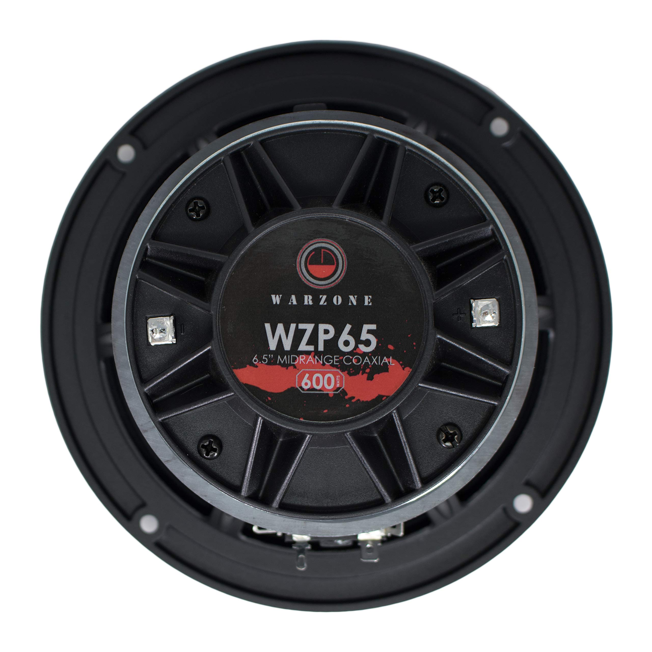 Gravity Warzone Series 6.5'' inch Pro Midrange Coaxial Loud Speaker 4-Ohms with 600W Max, 1 Speaker WZP65 by Gravity Professional (Image #4)