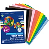 Pacon Tru-Ray eGzTRM Construction Paper, 9-Inches by 12-Inches, 50-Count, Assorted (Pack of 2)