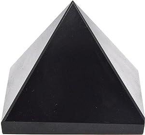 Pyramid Black Tourmaline Pyramid Energy Balancing Generator 2 Inches Base Large Size, Black