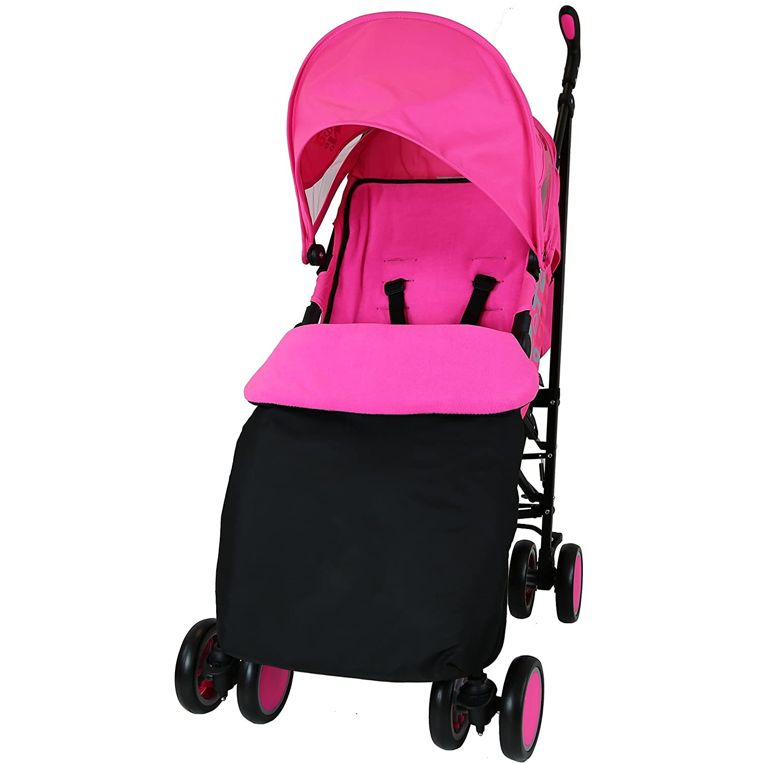 Zeta Citi Stroller Buggy Pushchair - Raspberry Pink (Complete With Footmuff + Raincover) Baby Travel ZeCi-PinCOM