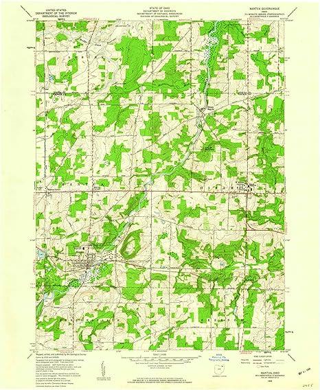 Amazon Com Yellowmaps Mantua Oh Topo Map 1 24000 Scale 7 5 X 7 5