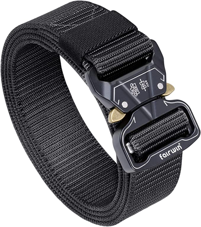 Quick Release Heavy-Duty Metal Buckle 3 Pack Military Style Belts 49x1.5 Nylon Riggers Belts Tactical Belt