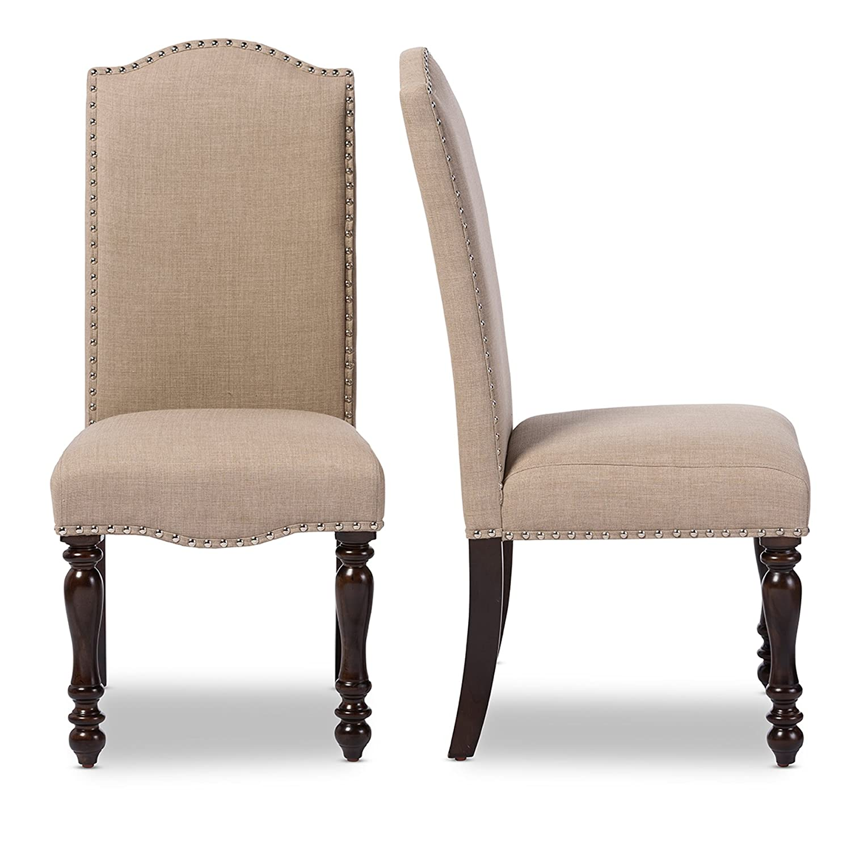 Amazon Homelegance Benwick Upholstered Fabric Dining Chairs