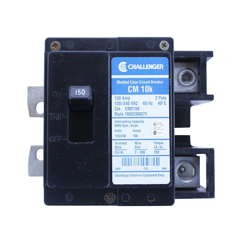 Eaton Challenger CM2150 7803C09G71 2 Pole 150A 120/240V Circuit