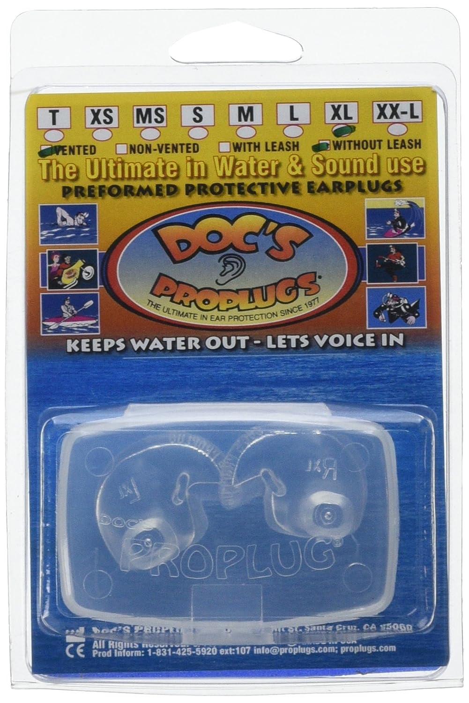 Doc's Pro Ohrstöpsel, mit Öffnung zum Druckausgleich, GrößeXL, transparent Doc' s Pro Ohrstöpsel GrößeXL Doc' s Pro Plugs DFF07