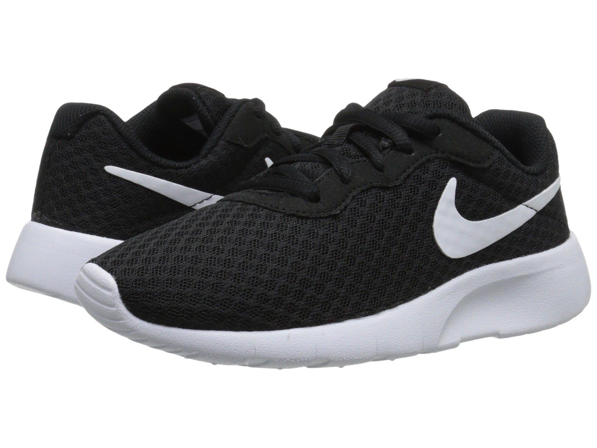 Nike Boy's Tanjun Running Sneaker Black/White-White 1.5 by Nike (Image #5)