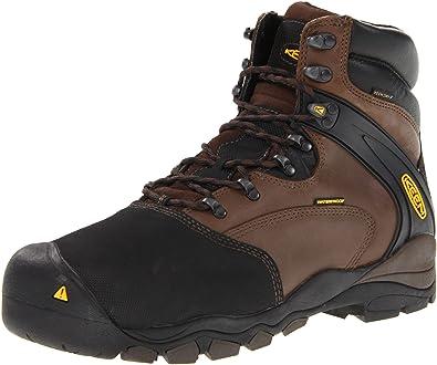 3cc92d2863 KEEN Utility Men's Louisville 6-Inch Internal Met Work Boot,Slate Black,7