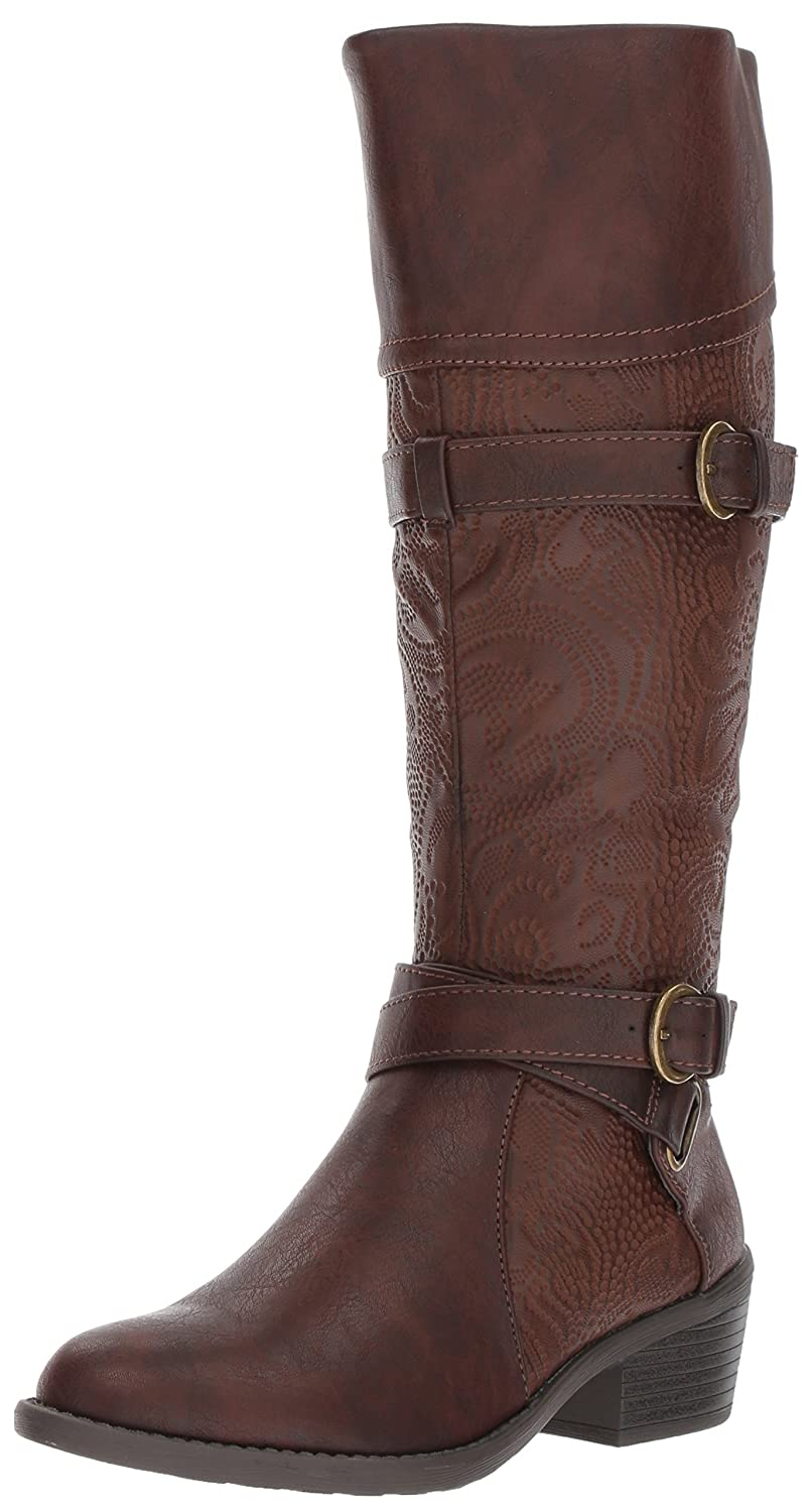 Easy Street Women's Kelsa Harness Boot B071W647NH 6 N US|Brown/Embossed