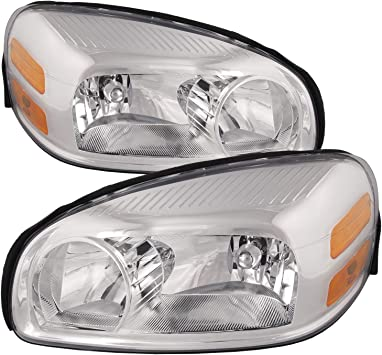 Amazon Com Headlightsdepot Chrome Housing Halogen Headlights Compatible With Buick Chevrolet Pontiac Saturn Montana Sv6 Relay 1 Relay 2 Relay 3 Terraza Uplander Includes Left And Right Side Headlamps Automotive