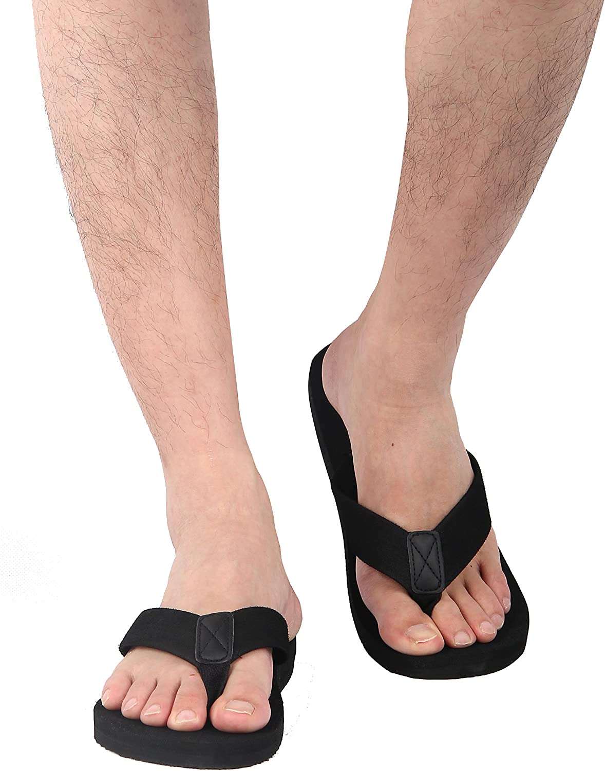 iloveSIA/® Tongs Homme Flip Flops Noir Mixte Adulte Tongue