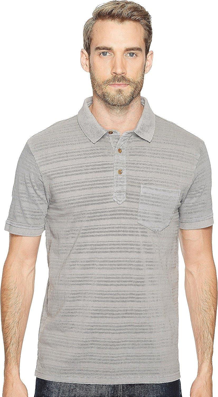 Lucky Brand Mens James Stripe Polo Shirt