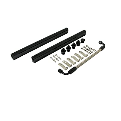 Top Street Performance 81008BK Black Fuel Rail with Middle Pipe: Automotive