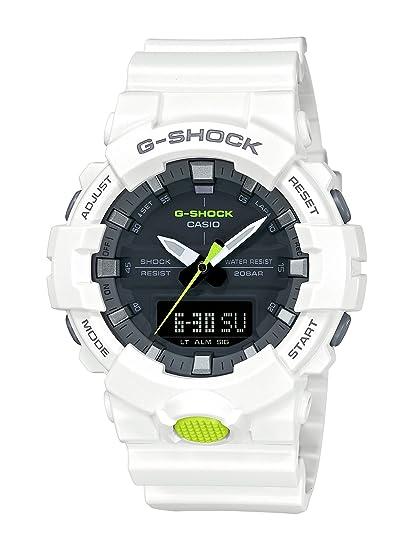 d8cafccafc67 Casio GA800SC-7A G Shock Super Illuminator Men s Watch White 54.1mm Resin