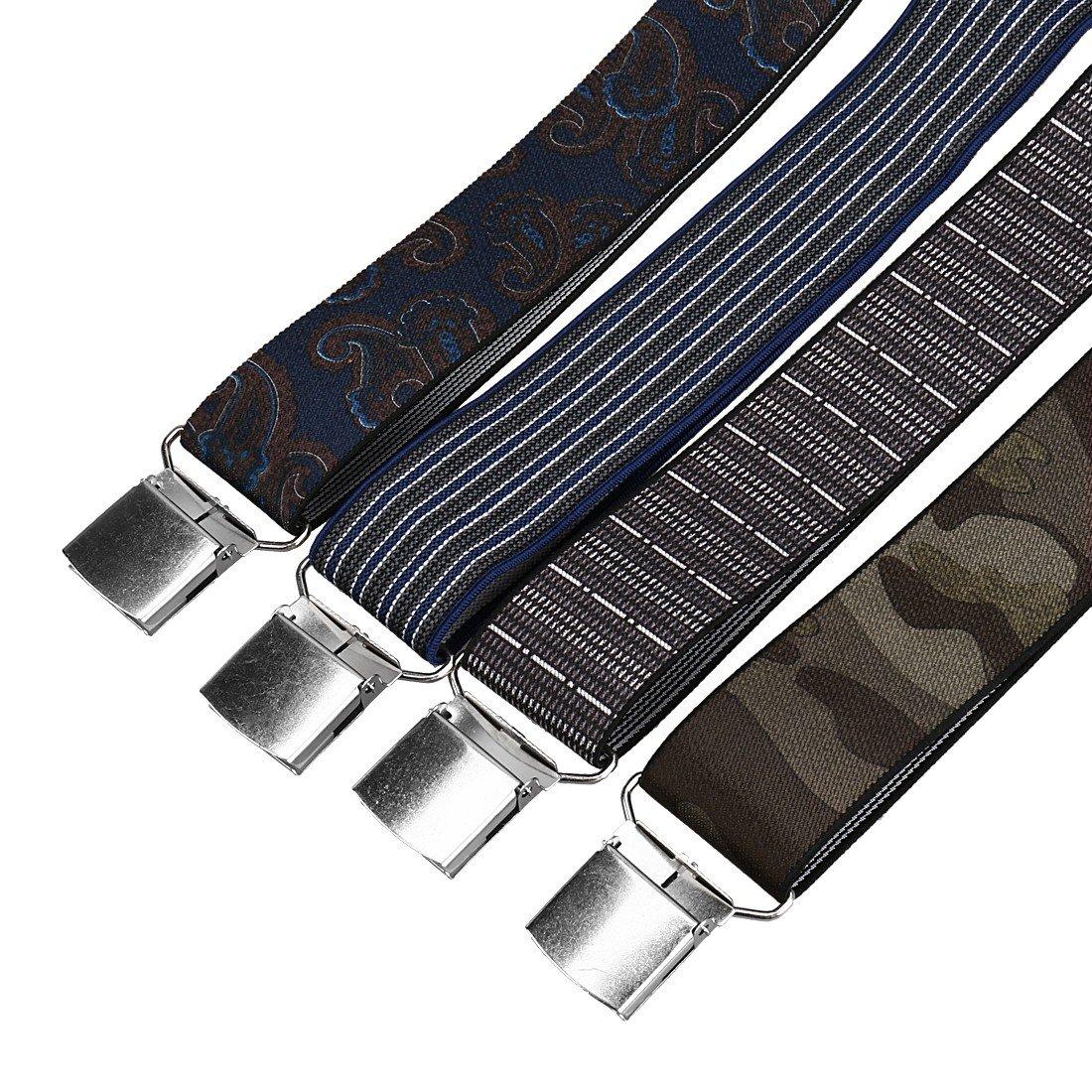 Bundle Monster 4pc Modern Man Design X-Back Adjustable Clip Unisex Suspender by Bundle Monster (Image #5)