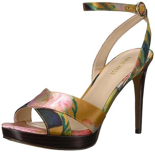 47868e0a87 Nine West Women's Quisha Fabric Heeled Sandal: Amazon.co.uk: Shoes ...