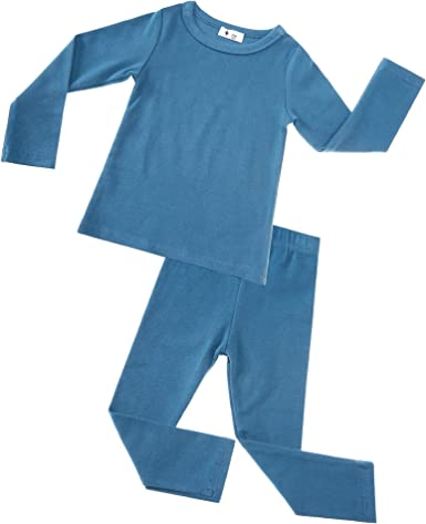 Boys Long Sleeve Winter Fleece Pyjamas Set Warm Cosy PJS Nightwear Age 3//4 /& 4//5