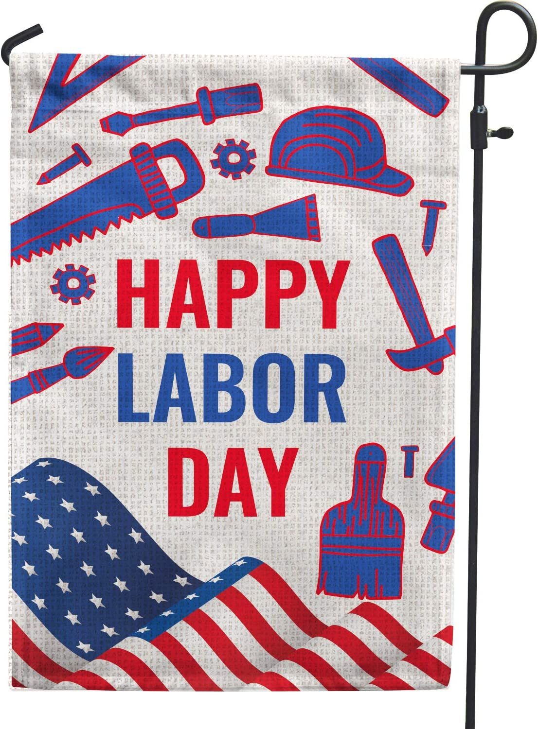 Hollyhorse Happy Labor Day Garden Flag - 12.5 x18 Inch Double Sided Vertical Outdoor & Yard USA Flag | Labor Day Decoration