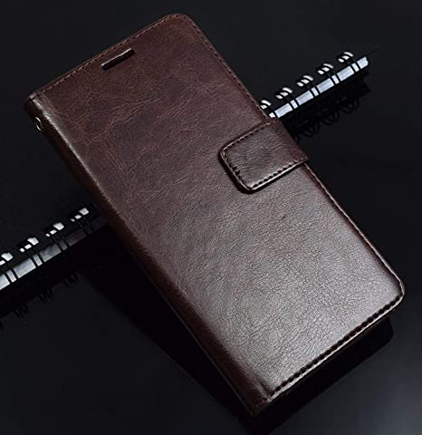 finest selection b2e8d d76ec Thinkzy Artificial Leather Flip Cover Case for Samsung Galaxy J7 Prime 2  (Coffee Brown)